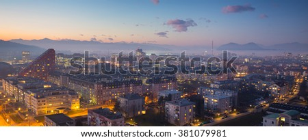 Panorama of Ljubljana, Slovenia, Europe. - stock photo