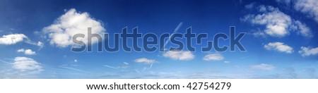 panorama of London blue sky - stock photo