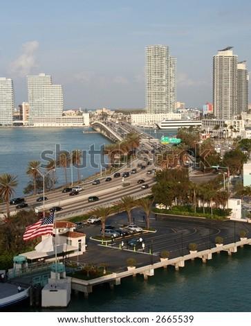 Panorama of Miami Beach - stock photo