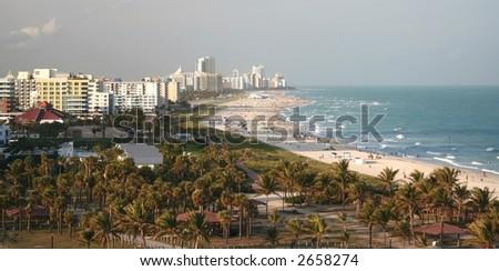 Panorama of Miami South Beach - stock photo