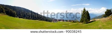 Panorama of Montecampione, Valcamonica, Lombardy, Italy - Italian Apls - stock photo