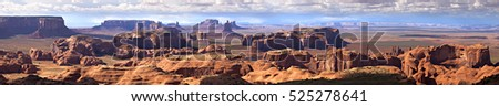 Panorama of Monument Valley, view from Hunt's Mesa.