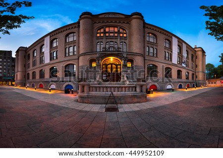 Panorama of Museum of Cultural History in the Morning, Oslo, Norway