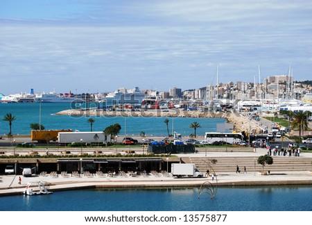 Panorama of Palma de Majorca - stock photo