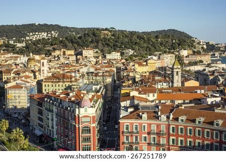 Panorama of Parc du Mont Boron in Nice (Nizza), France - stock photo