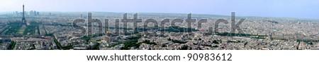Panorama of Paris - stock photo