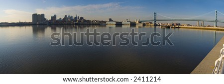 Panorama of Philadelphia - stock photo