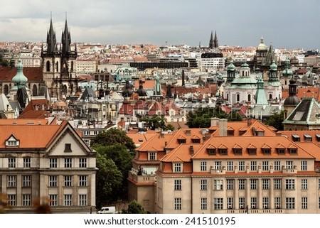 Panorama of Prague, Czech Republic - stock photo