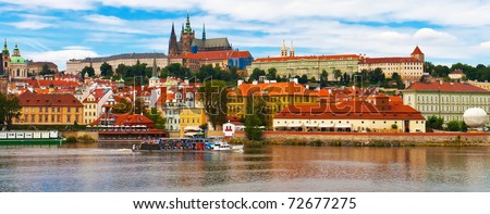 Panorama of Prague, Czech Republic - stock photo