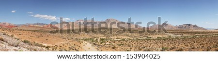 Panorama of red rock canyon in Nevada, united states
