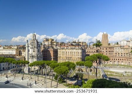 Panorama of Rome - Italy - stock photo