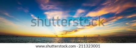 Panorama of Sanibel Island in Florida. - stock photo