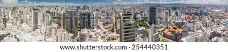 Panorama of Sao Paulo, Brazil - stock photo