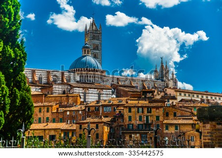 Panorama of Siena, Tuscany, Italy - stock photo
