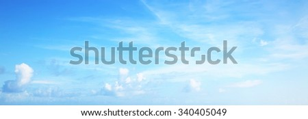 Panorama of sky view - stock photo
