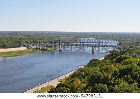 Panorama of Sozh river in Gomel
