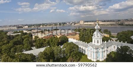 panorama of St.Petersburg - stock photo