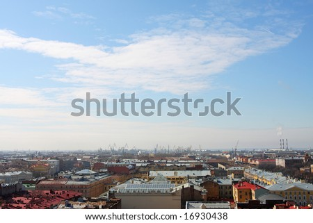 Panorama of St.-Petersburg from height of 45 meters