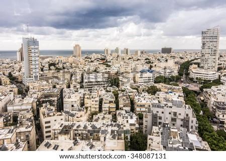 Panorama of Tel Aviv, Israel, Middle East - stock photo