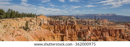Panorama of the amphitheater in Bryce Canyon, Utah, USA