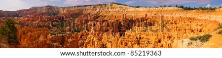 Panorama of the area of Bryce Canyon National Park called the Amphitheater