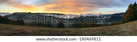 panorama of the Carpathian - stock photo