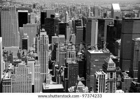 panorama of the city - stock photo