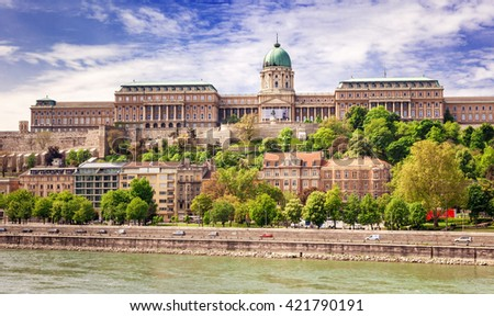 Panorama of the city of Budapest, Hungary - stock photo