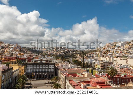 Panorama of the city of Las Palmas de Gran Canaria. The Canary Islands. Spain - stock photo