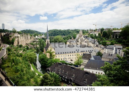 Panorama of the City of Luxembourg