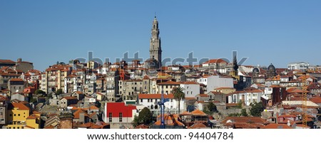 Panorama of the city of Porto.(World Cultural Heritage by UNESCO in 1996)