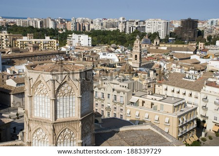 Panorama of the city of Valencia (Spain)