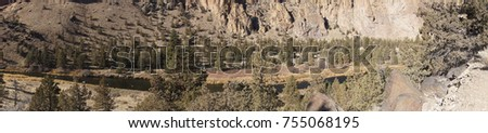 Panorama of the Crooked River at Smith Rock State Park, Oregon