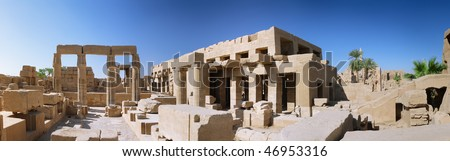 Panorama of the Karnak Temple Complex. Luxor, Egypt