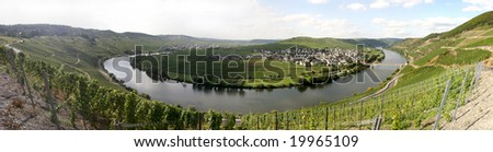 Panorama of the river Mosel in Germany