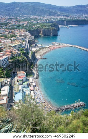 Panorama of the Sorrento coast - Italy