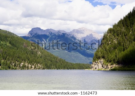 panorama of the whiteswan lake - Located in the Kootenay Range of the Rocky Mountains, BC, Canada