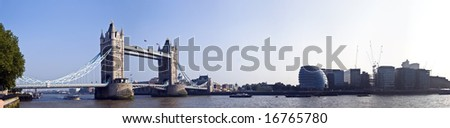 panorama of Tower Bridge, London
