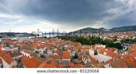 Panorama of Trogir, Croatia - stock photo