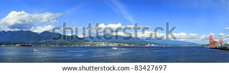 Panorama of Vancouver city (British Columbia. Canada)