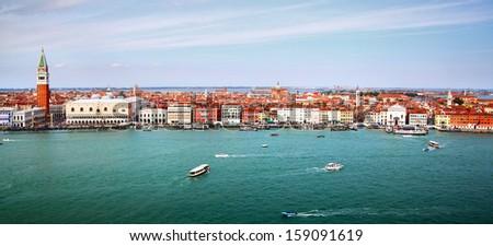Panorama of Venice, Italy - stock photo