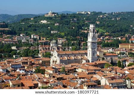 panorama of Verona, Italy, Europe - stock photo