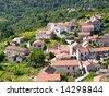 Panorama of village Lastovo on the island Lastovo, Croatia - stock photo