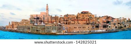 panorama old jaffa - stock photo