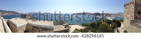 Panorama over the Bodrum Castle #1 - stock photo