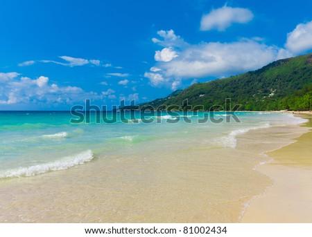 Panorama Summer Shore - stock photo