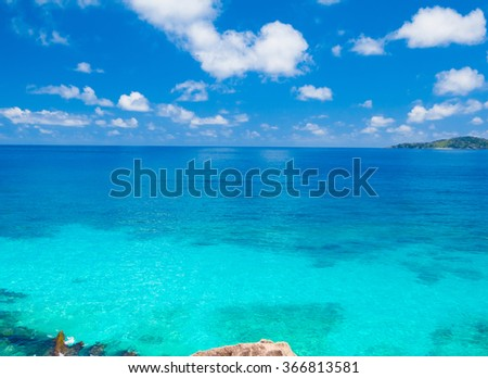 Panorama Summertime Bay  - stock photo