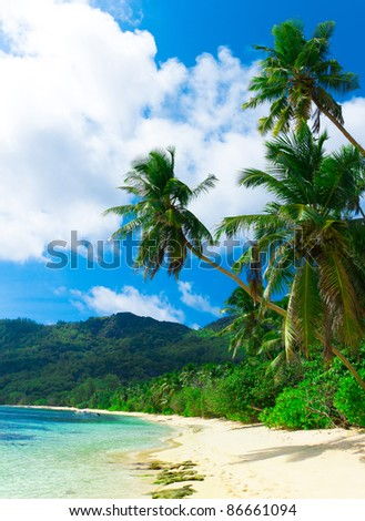 Panorama Tranquility Bay - stock photo