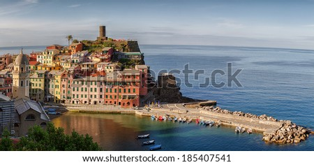 Panorama Vernazza, Cinque terre. - stock photo