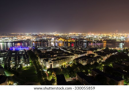 Panorama view from Hamburg Germany